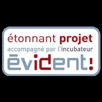 Logo incubateur Evident!
